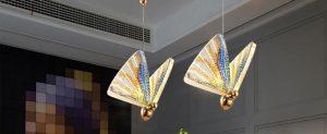 Pleasant Plastic - Acrylic Butterfly Suspension Pendant Light