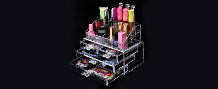 Acrylic makeup organizer - Pleasant Plastic